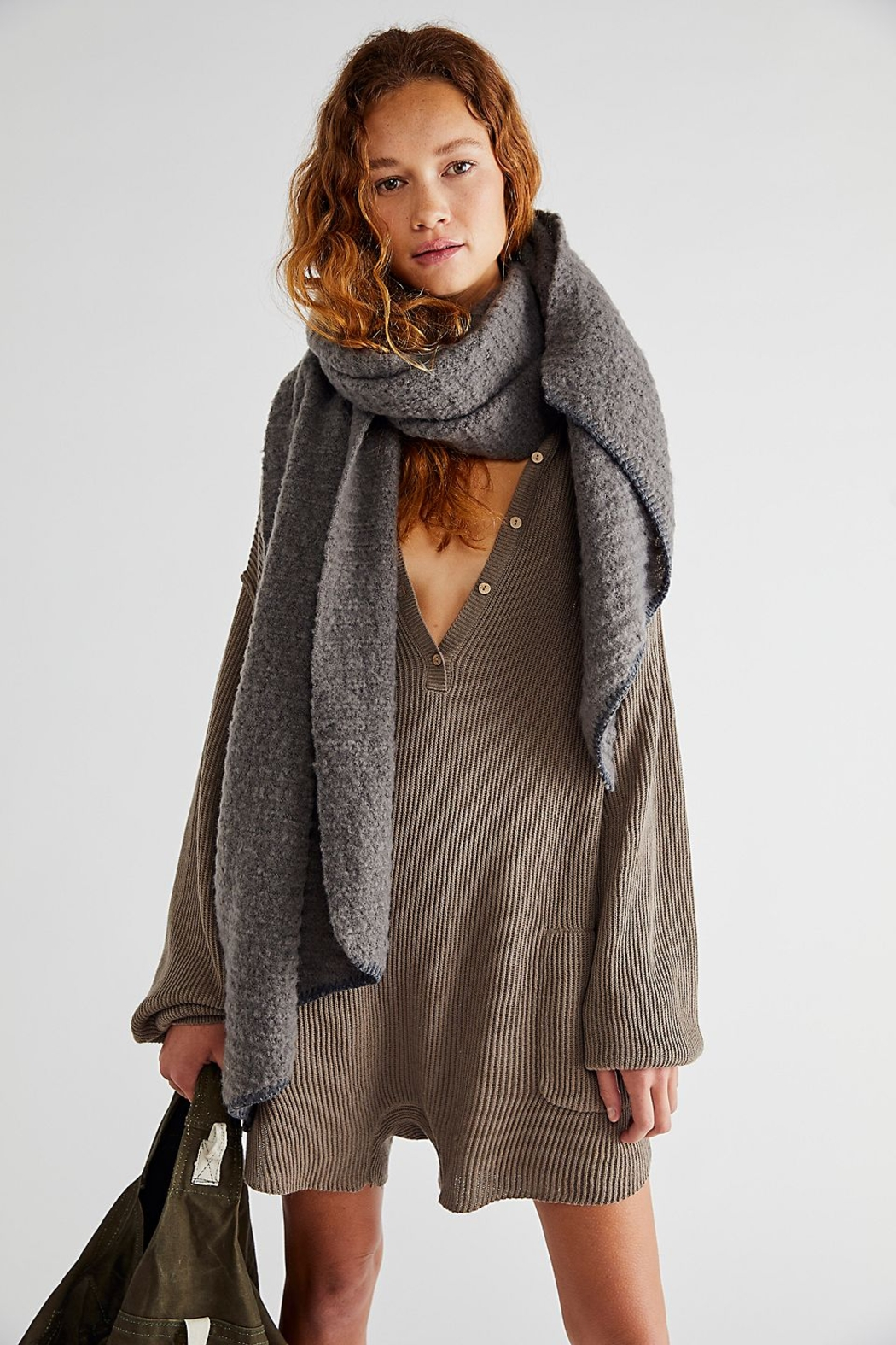 Free People  Ripple Recycled Blend Blanket Scarf - Main Image