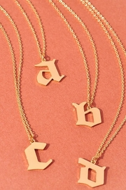 Merveille Riri Initial Necklace - Front cropped
