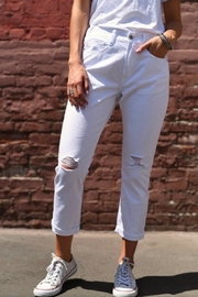 Rise White Boyfriend Jeans - Product Mini Image
