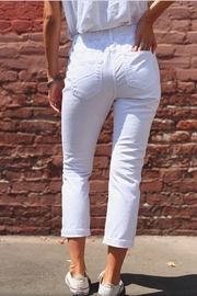 Rise White Boyfriend Jeans - Front full body