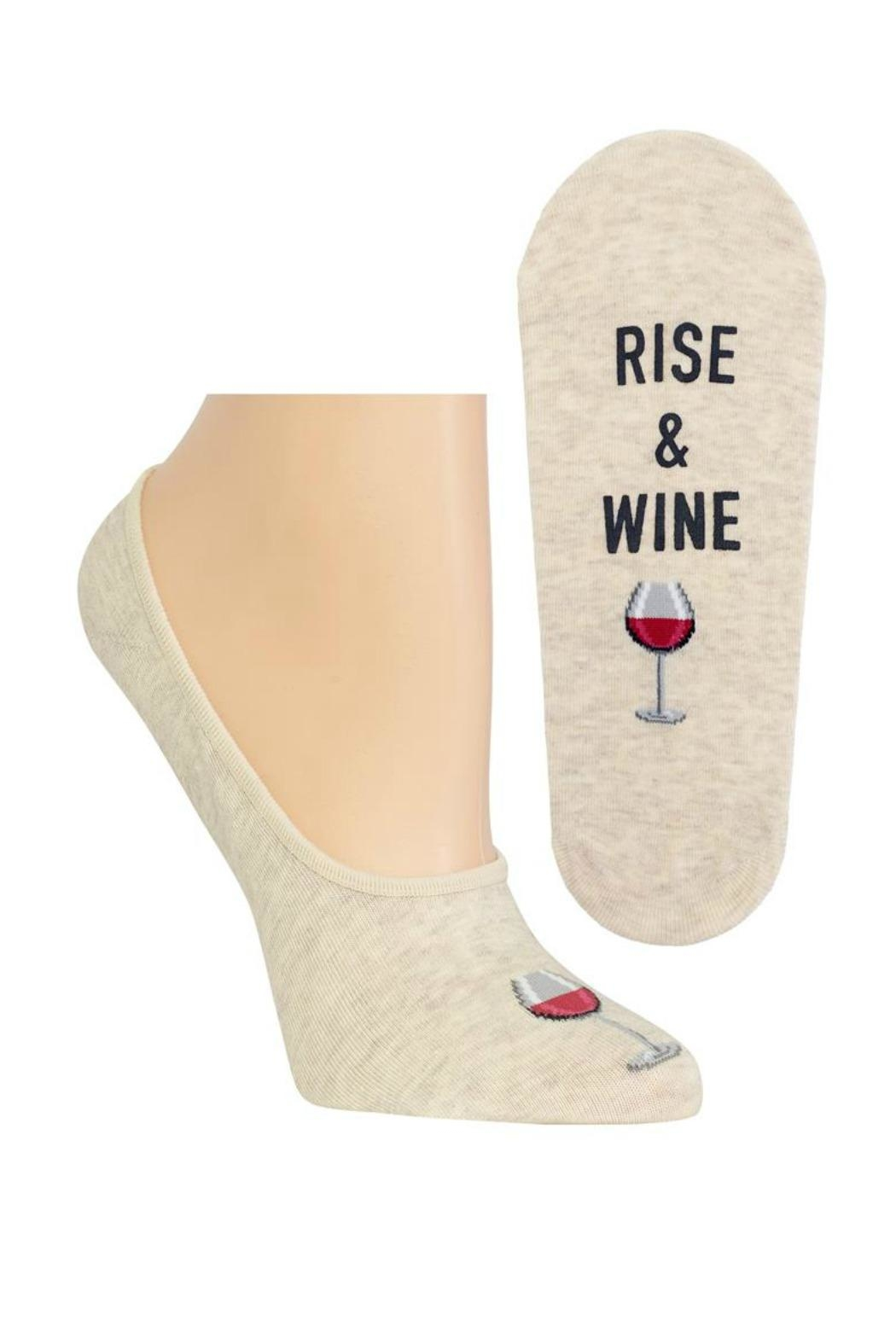 Hot Sox Rise & Wine Sock - Front Cropped Image