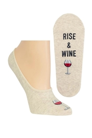 Hot Sox Rise & Wine Sock - Front cropped