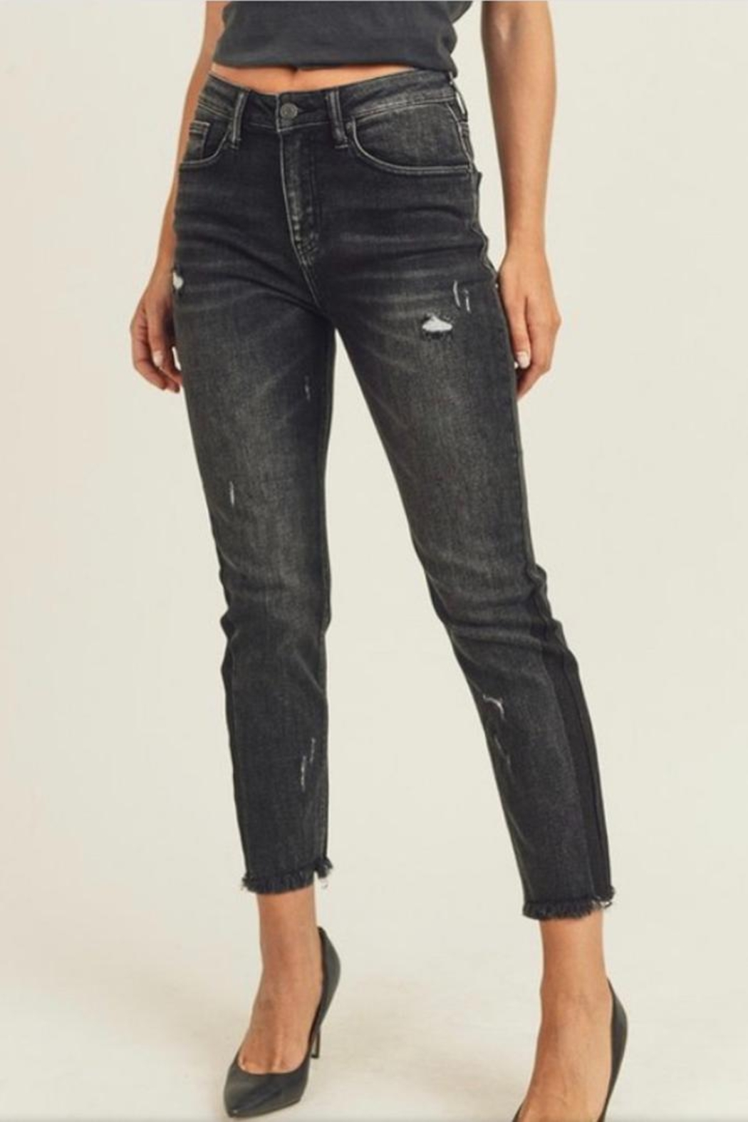 Risen Jeans  Black Shaded Jeans - Main Image
