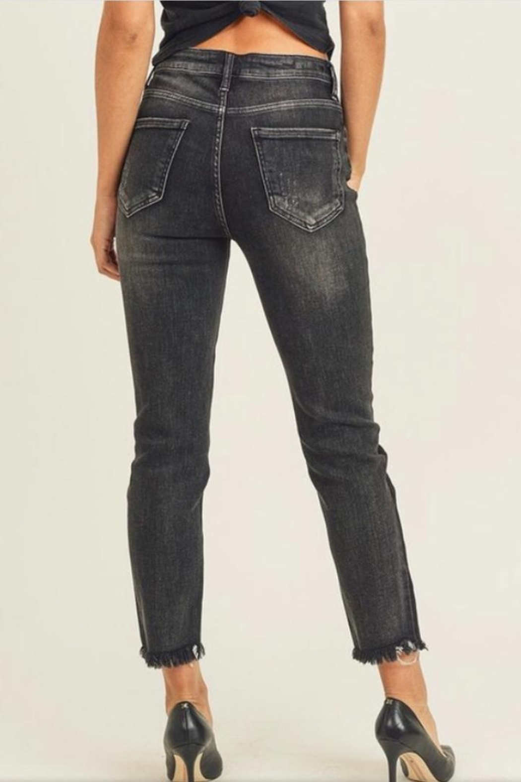 Risen Jeans  Black Shaded Jeans - Front Full Image