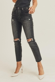 Risen Jeans  Black-Vintage-Wash Distressed Denim - Side cropped
