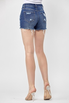 Risen Jeans  Button Fly Distressed Shorts - Alternate List Image