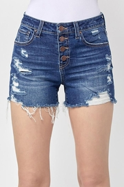 Risen Jeans  Button Fly Distressed Shorts - Product Mini Image