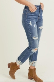 Risen Jeans  Cuff Distressed Jeans - Front full body