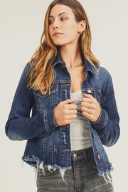 Risen Jeans  Frayed Away Jacket - Product Mini Image