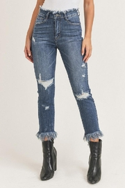 Risen Jeans  Hw Frayed Hem - Product Mini Image