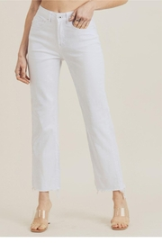 Risen Jeans  White Frayed Denim - Product Mini Image
