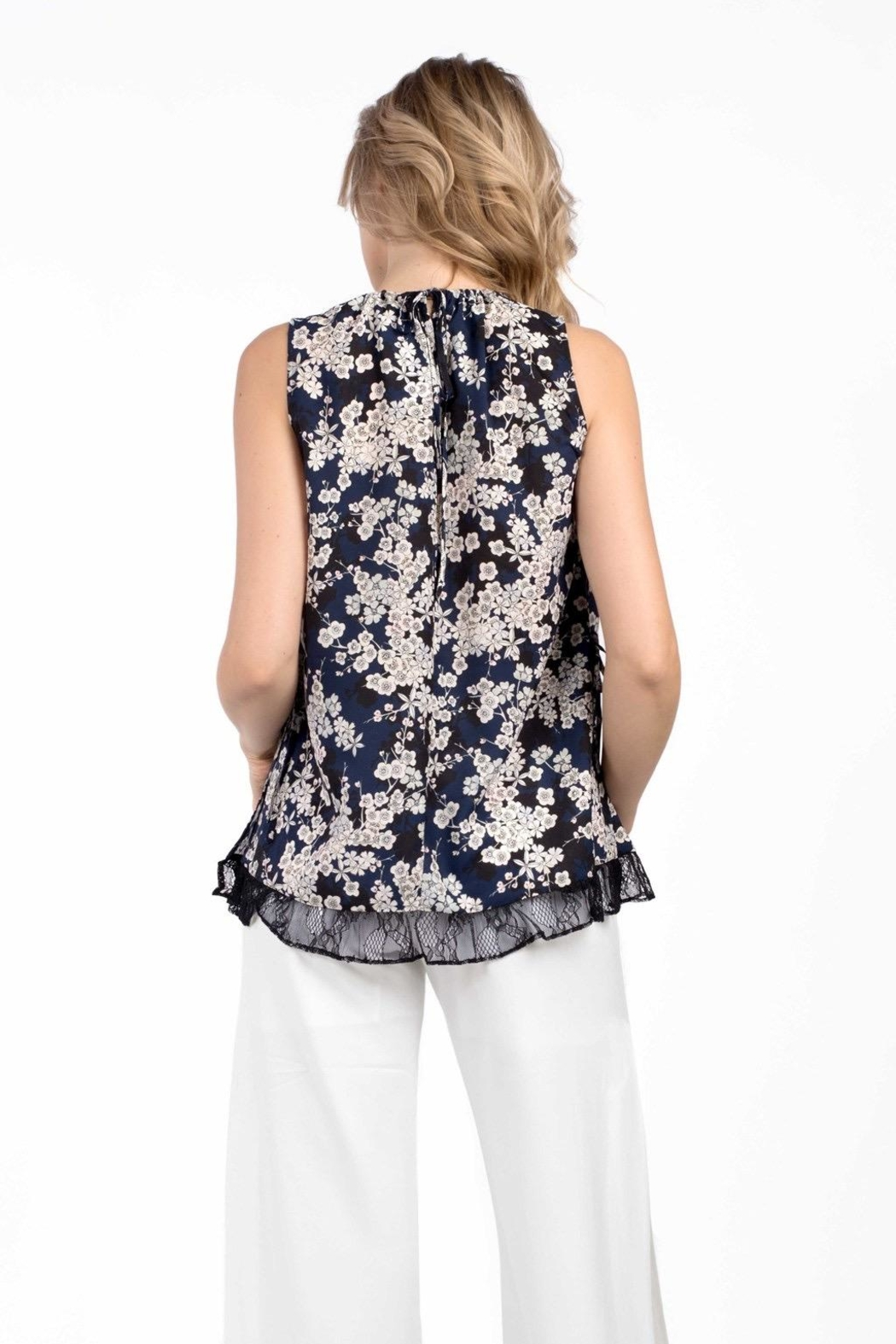 French Connection Rishiri Crepe Top - Side Cropped Image