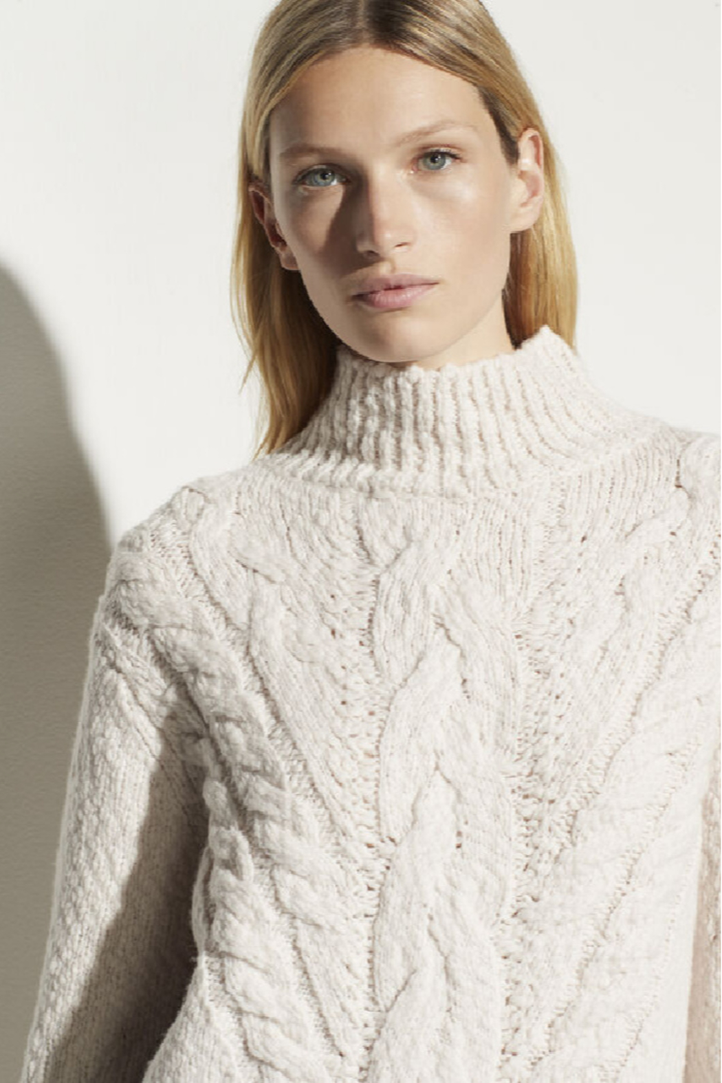 Vince Rising Cable Turtleneck - Side Cropped Image