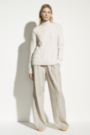 Vince Rising Cable Turtleneck - Front cropped