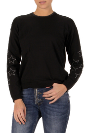 Elan  Rising Star Crew Neck Metallic Sweater - Product Mini Image