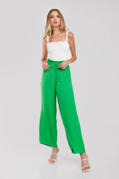 Naked Zebra Rita Wide Leg Satin Pants - Product List Image