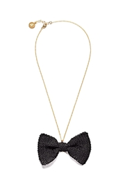 Rita in Palma Bow Necklace Black - Product Mini Image