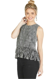 Mud Pie River Fringe Tank - Front cropped