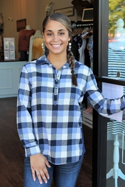 Simply Noelle River Lodge Plaid Button Down Top - Product Mini Image