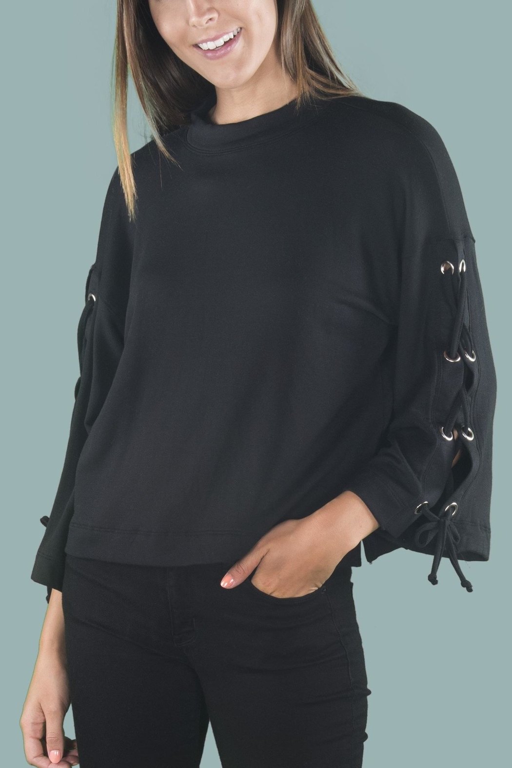 River + Sky  Laceup Arm Sweatshirt - Main Image
