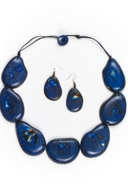 Organic Tagua Jewelry Riverstone Necklace Set - Product Mini Image