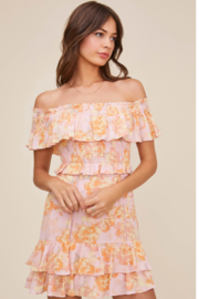 ASTR Riviera Off Shoulder Dress - Product Mini Image