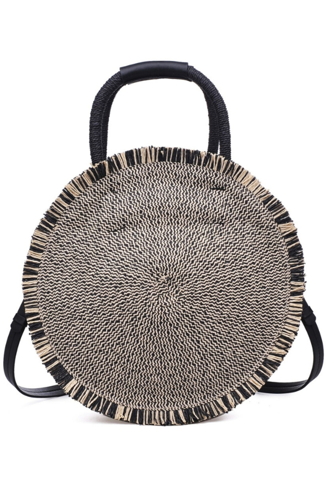 Urban Expressions Riviera Straw Circle Crossbody - Main Image