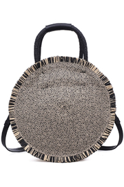 Urban Expressions Riviera Straw Circle Crossbody - Front cropped