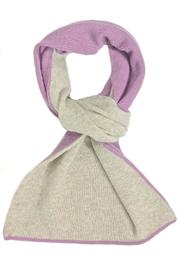 Riviera  Violet Beige Cashmere Scarf - Product Mini Image