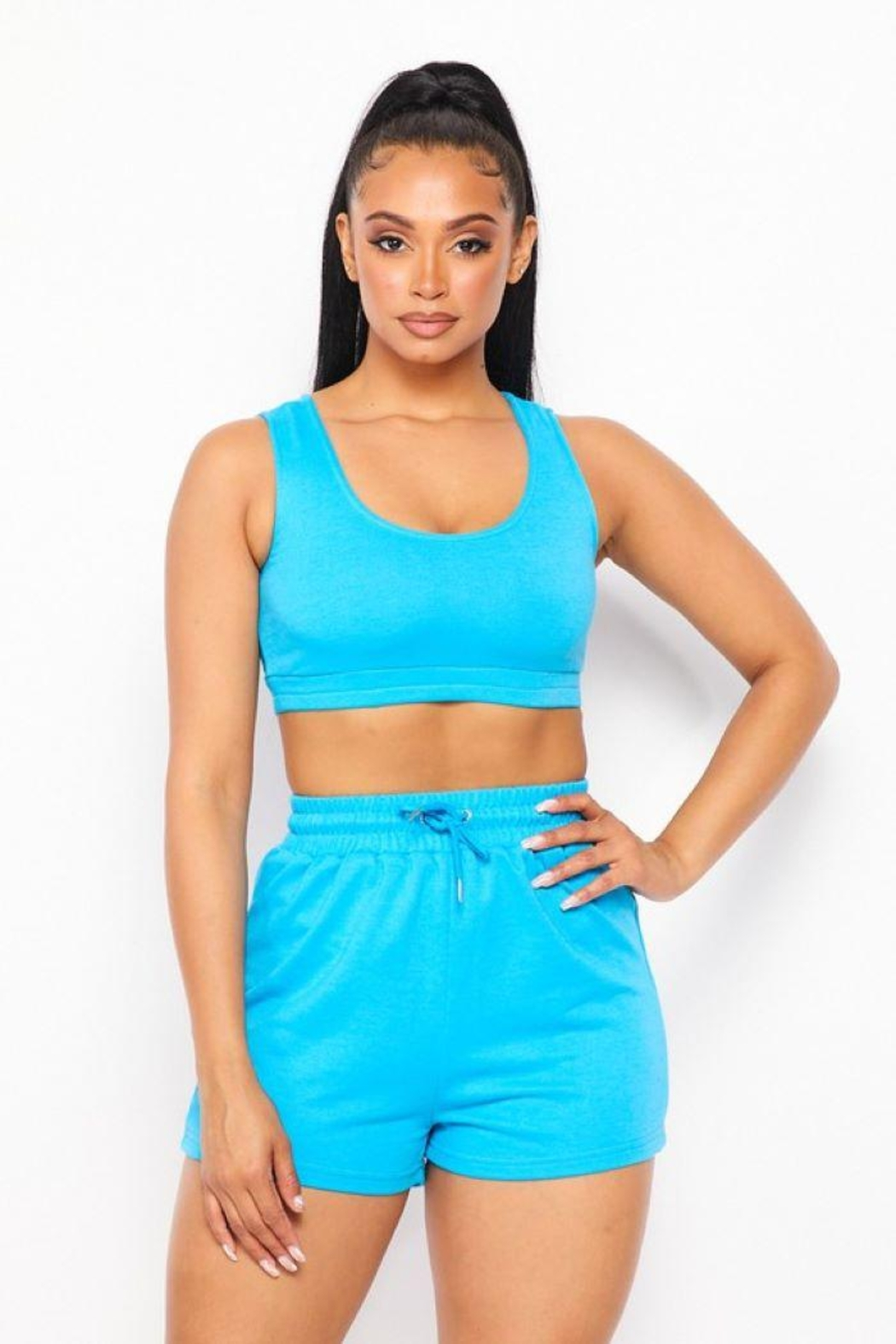 Rivir By Oculus Solid Sport Bra - Front Cropped Image