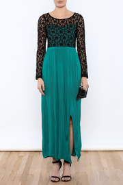 rk7brand Lace Split Maxi - Front cropped