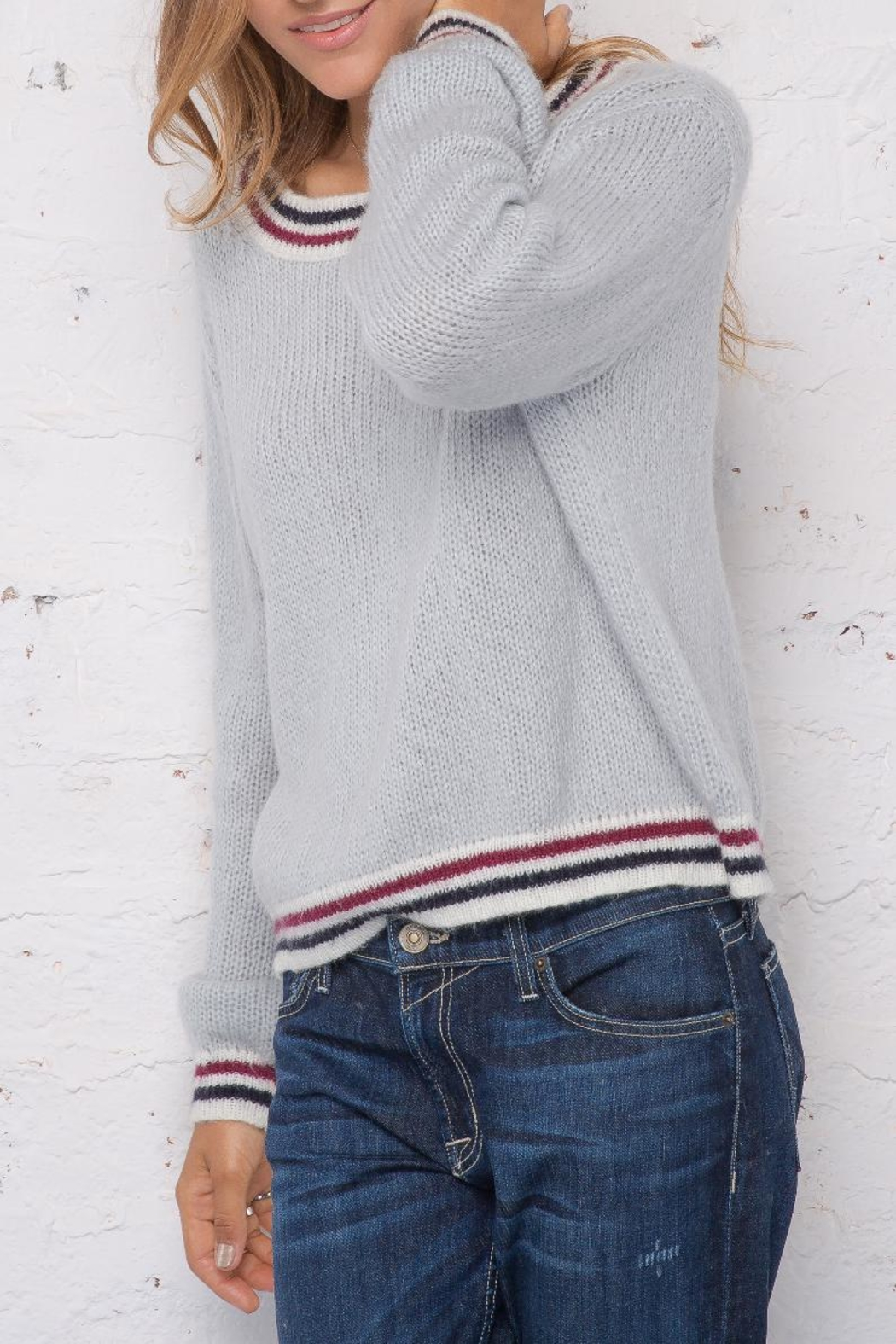 Wooden Ships Robbie Striped Sweater - Front Full Image