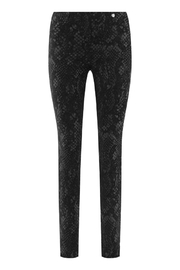 Robell Snake Vegan Suede Pants - Front cropped