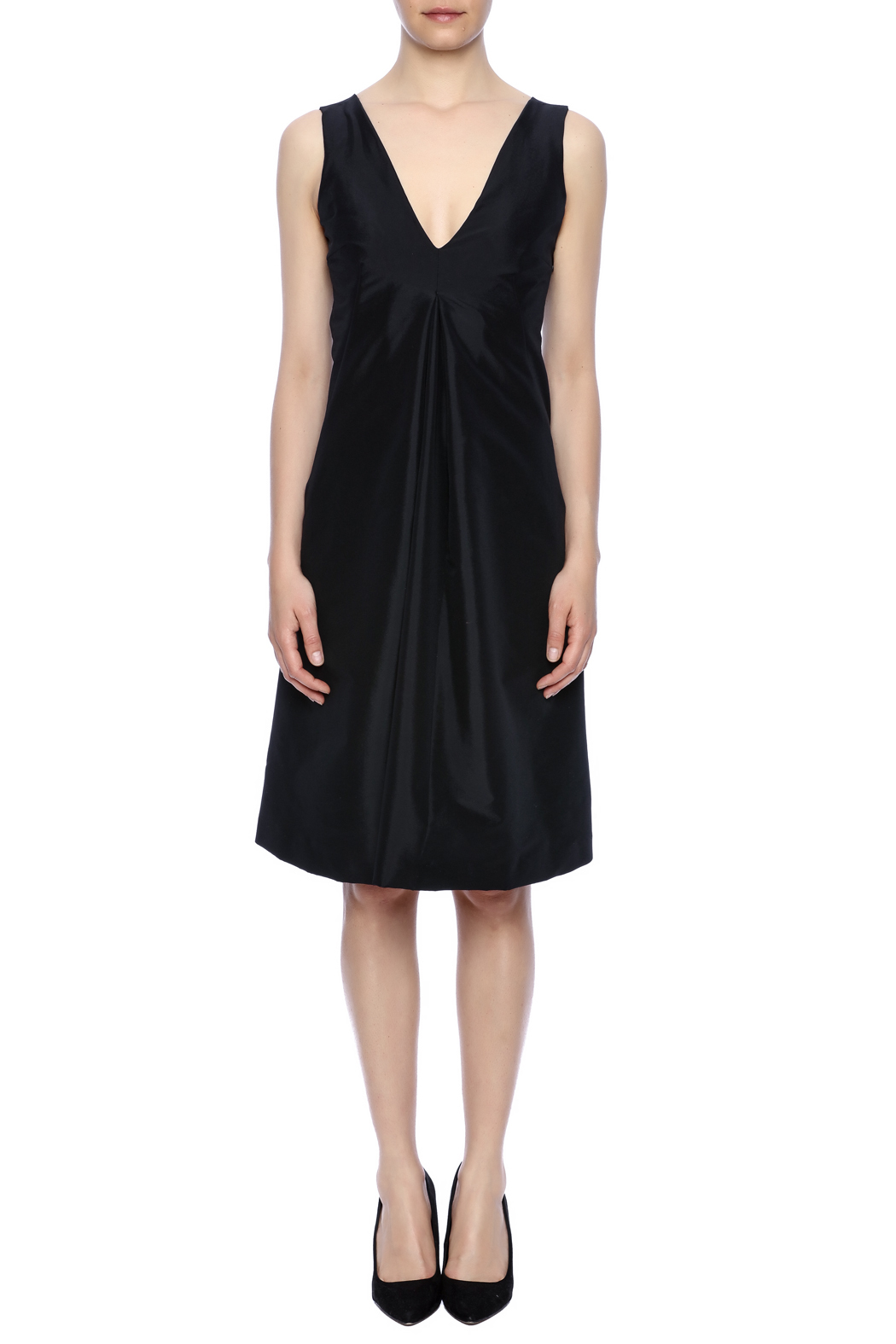 Robert Greco Couture Black Empire Dress - Front Cropped Image