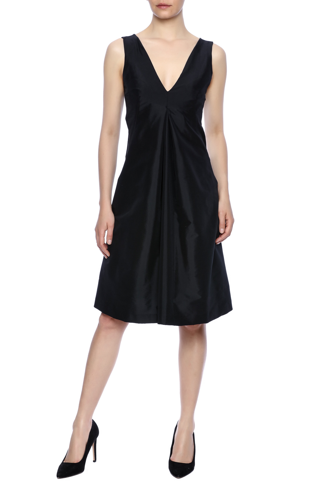 Robert Greco Couture Black Empire Dress - Main Image