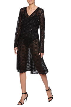 Robert Greco Couture Sheer Lace Dress - Product List Image