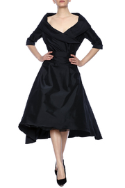 Robert Greco Couture Taffeta Portrait Collar Dress - Product Mini Image