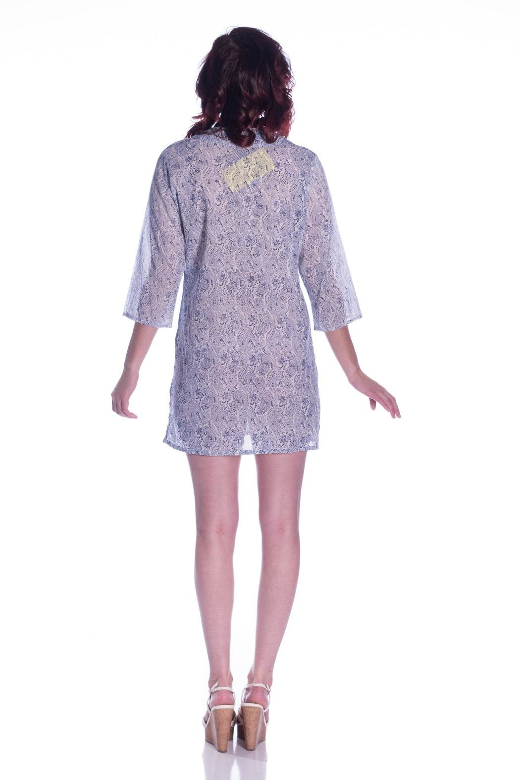 Roberta Roller Rabbit Paisley Embroidered Tunic - Side Cropped Image