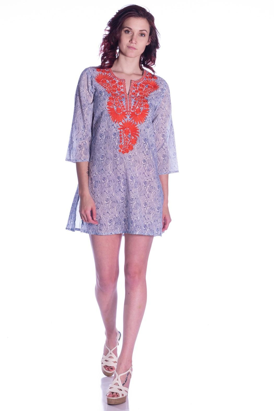 Roberta Roller Rabbit Paisley Embroidered Tunic - Main Image