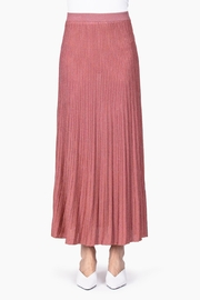 Roberto Collina Lurex Plisse Skirt In Dusty Coral - Product Mini Image