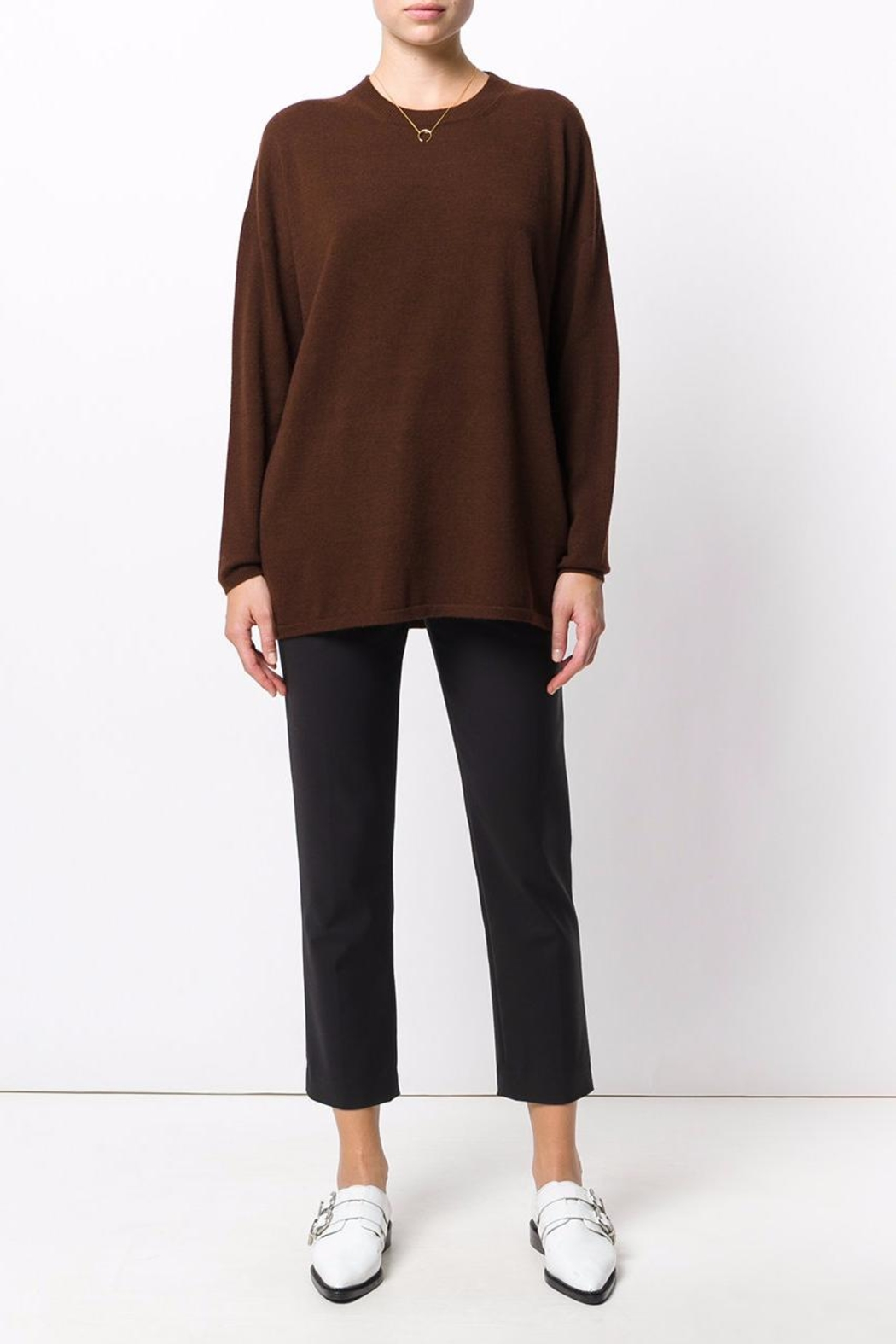 Roberto Collina Round Neck Sweater - Front Cropped Image