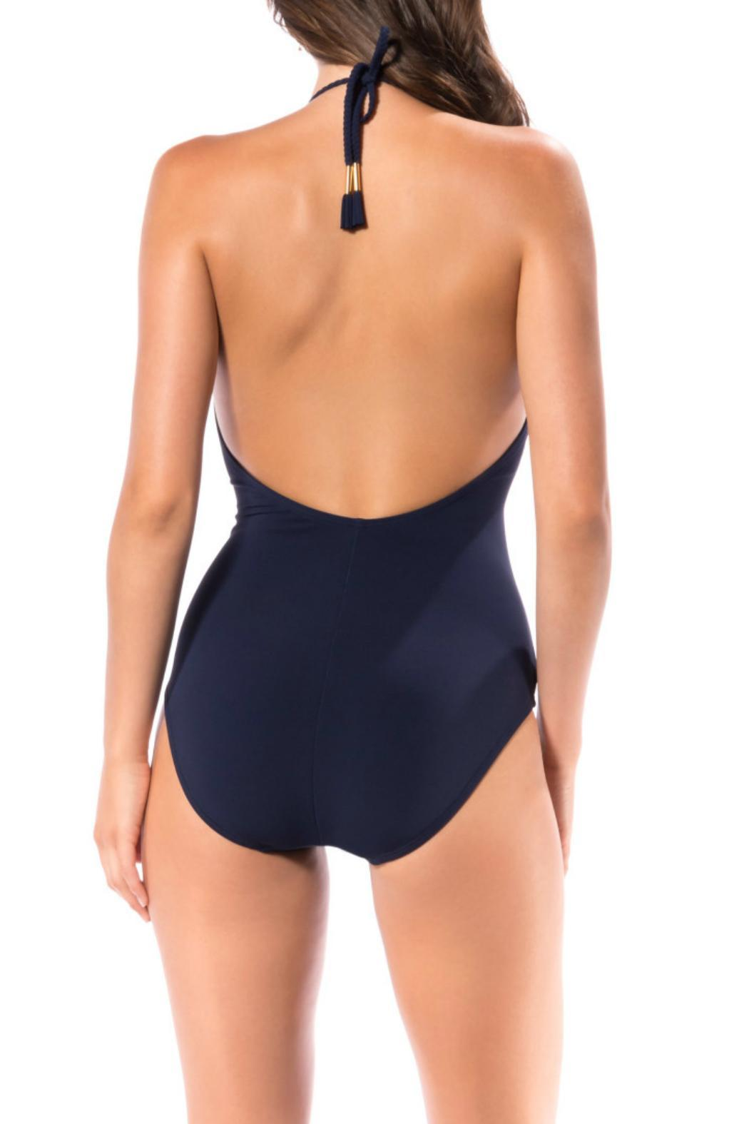 Robin Piccone  Ava Braided Strap One Piece - Front Full Image
