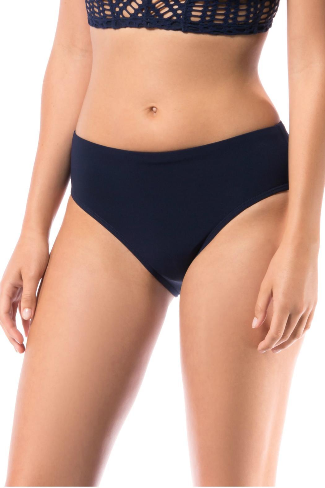 Robin Piccone  Ava High Waist Bottom - Front Cropped Image