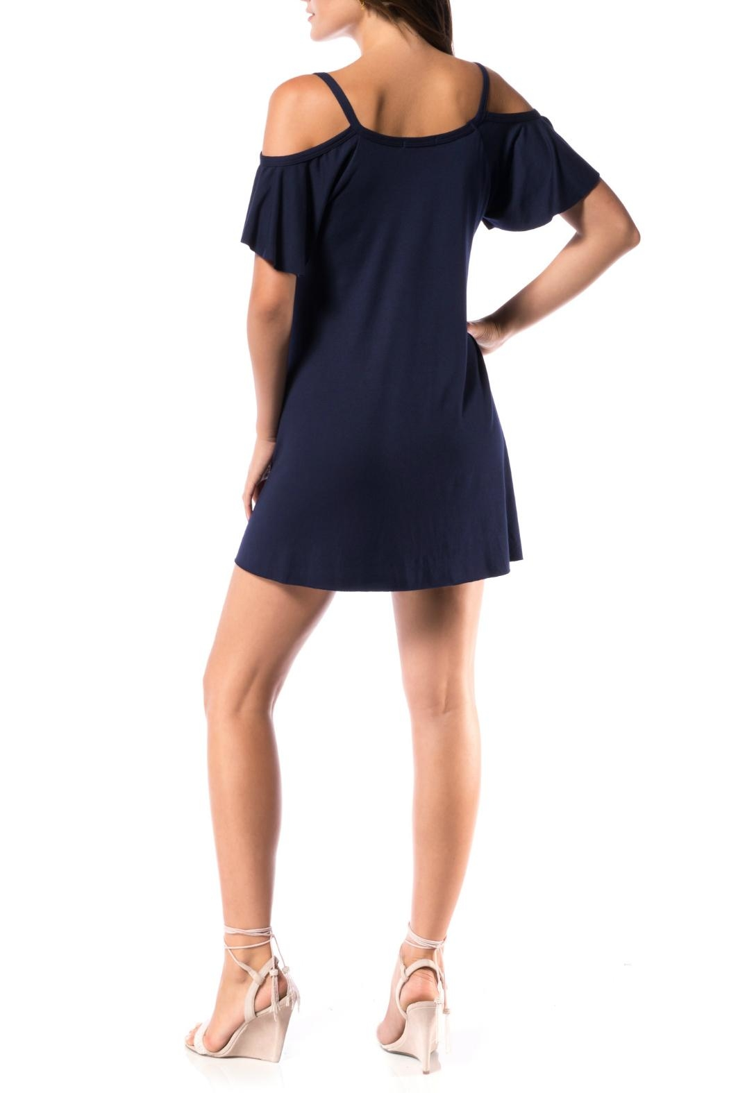 Robin Piccone  Calista Flutter Sleeve Dress - Front Full Image