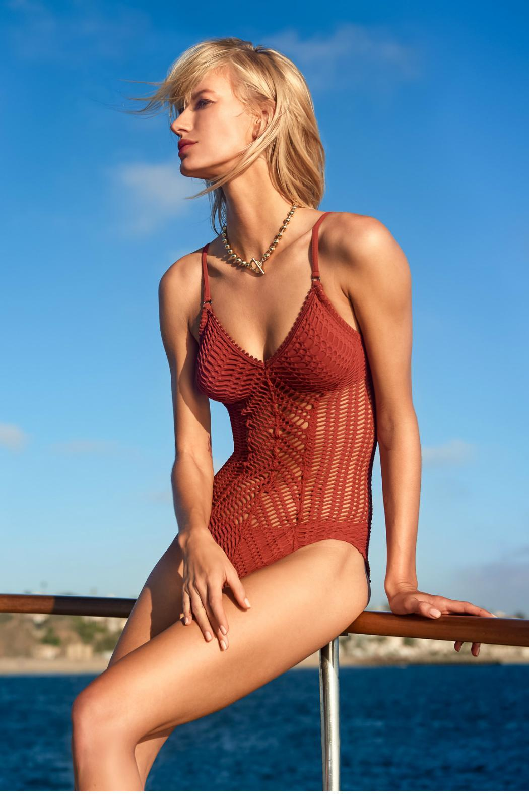 Robin Piccone  Sophia Crochet One Piece - Side Cropped Image