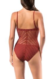 Robin Piccone  Sophia Crochet One Piece - Front full body