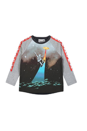 Paper Wings Robot Skate Long Sleeve T-Shirt - Front cropped