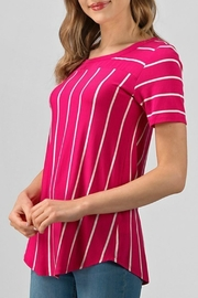 Izzie's Boutique Robyn Stripe Tee - Product Mini Image