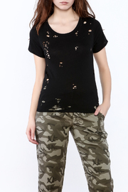 Shoptiques Product: Distressed Short Sleeve Top