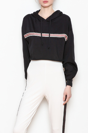 rock and rose Striped Cropped Hoodie - Product Mini Image
